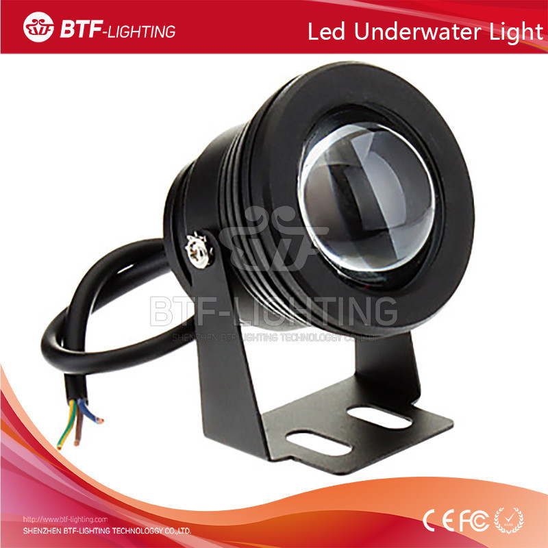 10W 85-265V swimming pool underwater led light Waterproof Floodlight White/Warm White/Cold White Changeable with Convex <strong>Glass</strong>