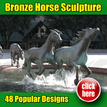 Famous Bronze Horse Statue In Dallas Texas (Customized Service Is Available )