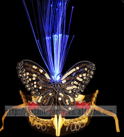 Gorgeous Masquerade Carnival Dancing Party Ball Butterfly Eye Mask with LED Lights