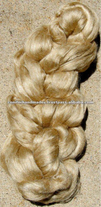 Muga Silk Fibers For Spinners,Weavers