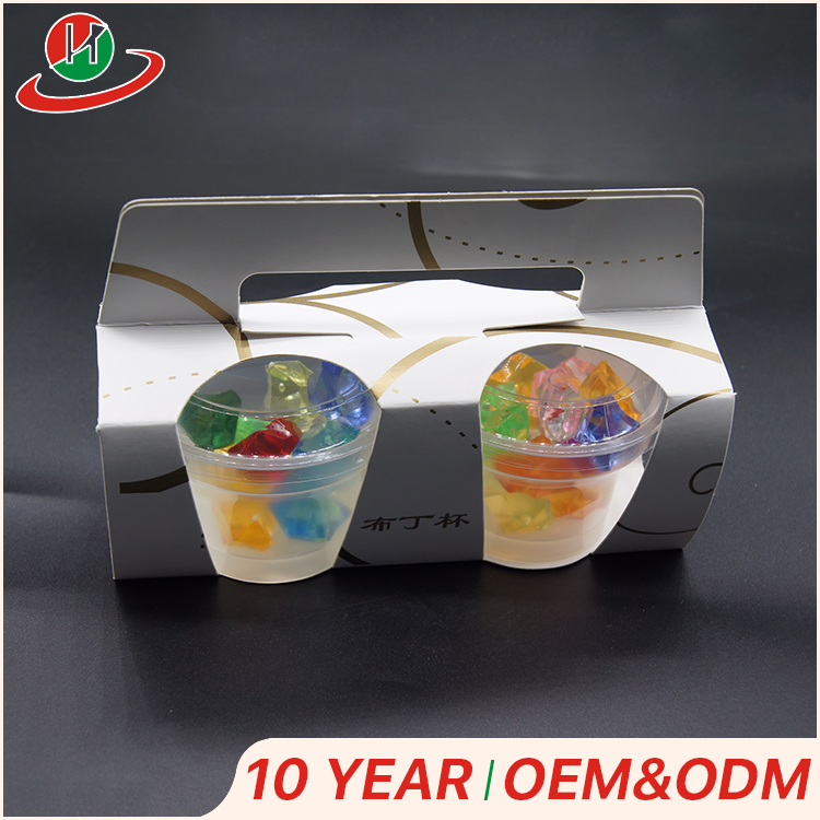 High quality new style cake packaging cardboard paper cupcake box with plastic cake cup