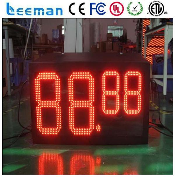 semi-outdoor led temperature display board hq marathon led timer outdoor high brightness led oil display