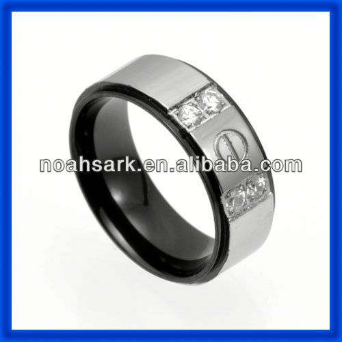 Fashion jewelry wholesale hot stainless steel locking ring