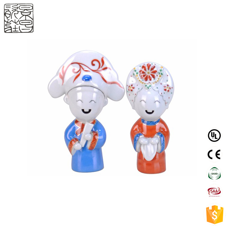 hot sale cute doll ceramic figurine sculpture porcelain doll for home decor
