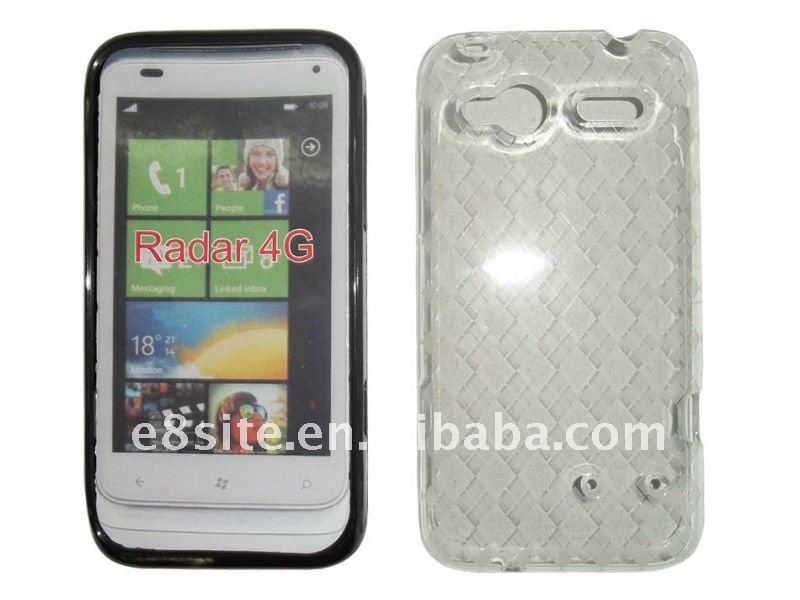 TPU Gel Phone Case With Argyle Pattern For HTC Radar 4G