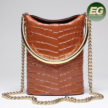 2017 Fashion real leather bag crocodile pattern animal skin lady handbag bags women EMG5053