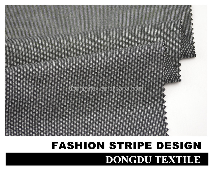 DD-5020 blend woven dyed t r brush pant fabric for wholesale in shaoxing
