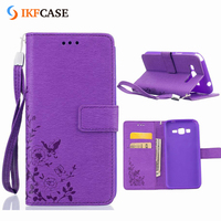 Cheap leather cell phone covers,mobile flip cover case for Samsung G530