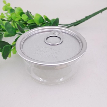 Hot sale food packing 100ml small plastic jar with aluminium lid