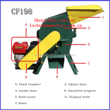 CF198A 7.5hp gasoline engine conconut shell bean husk hammer mill