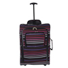 600D Stripe Printing Single Trolley Bag
