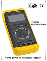 ABS Yellow and black Digital multimeter with CE Certification