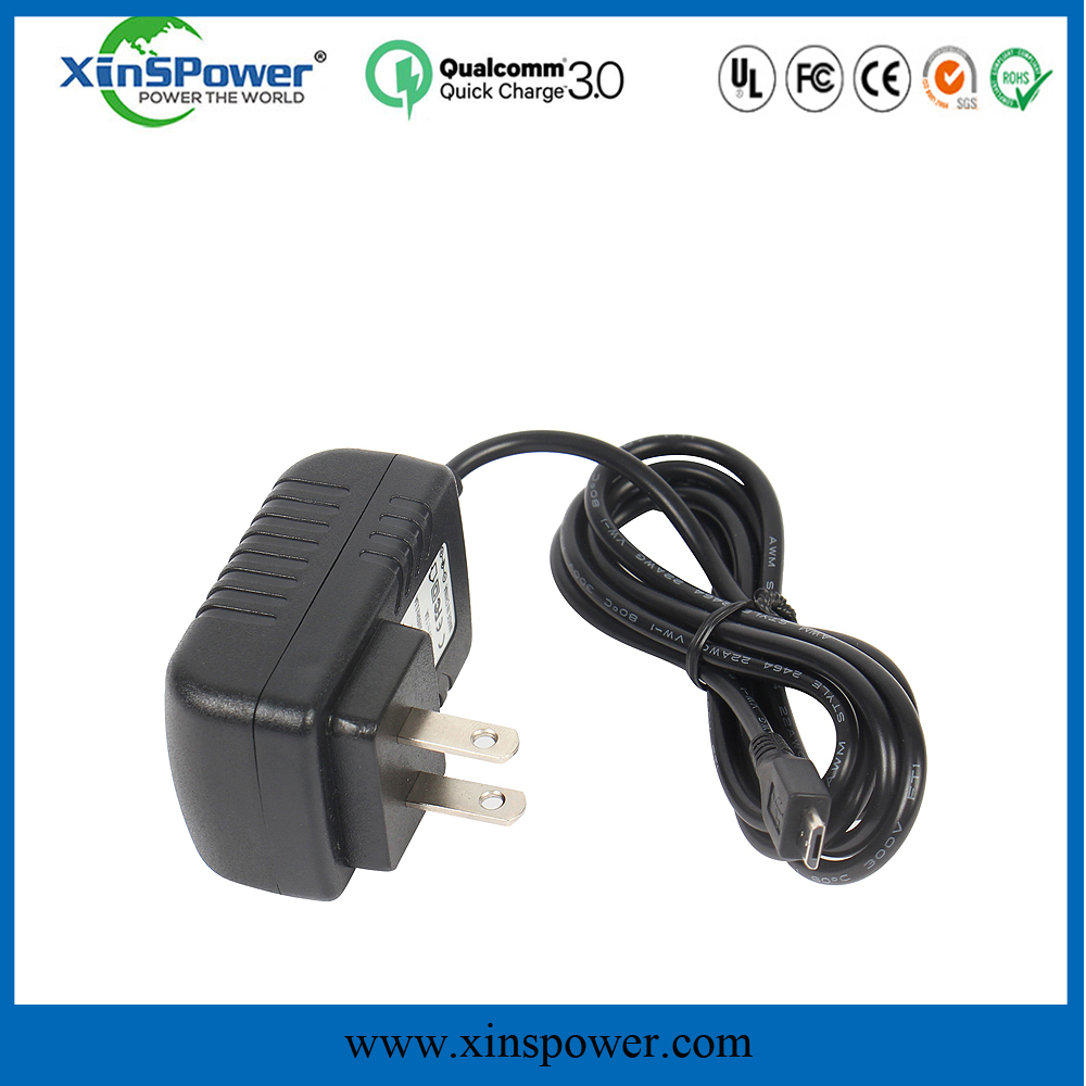 micro charger adapter for single-board computer us plug 10 cable 5V 2100mA