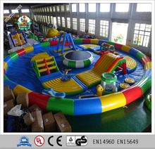 exciting and fun inflatable floating Water aqua park Trampoline Bouncer Jumping Bed for sale