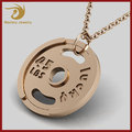 Custom Stainless Steel Barbell Bodybuilding Charm Sport Dumbbell Pendant Weight Plate Necklace fitness Jewelry