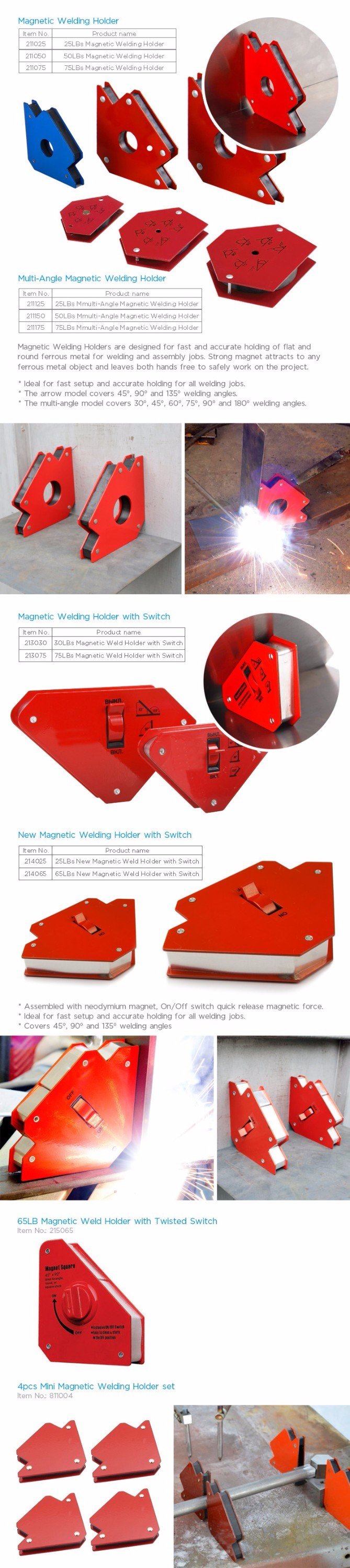 75 Lbs Arrow Magnetic Welding Holder/ Magnetic Welding Positioner/Welding Fixer with on off switch