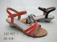 NICE DESIGN WOMEN SANDAL LOW-HEEL BUCKLE STRAP WOMEN SHOES SILVERY INSOLE SANDAL FOR LADIES