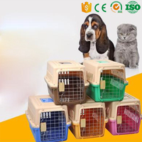 Dog Cat Carriers Travel Box Plastic Pet Cage portable traveling cage