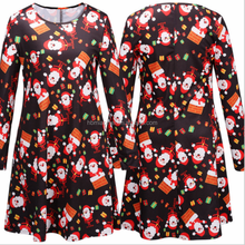 New Design Dress Women Casual Stylish Christmas Wear Plus Size Fat Women Clothes
