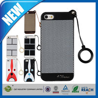 C&T New Coming portable tpu pu 2 in 1 hybrid combo case cover for iphone 6