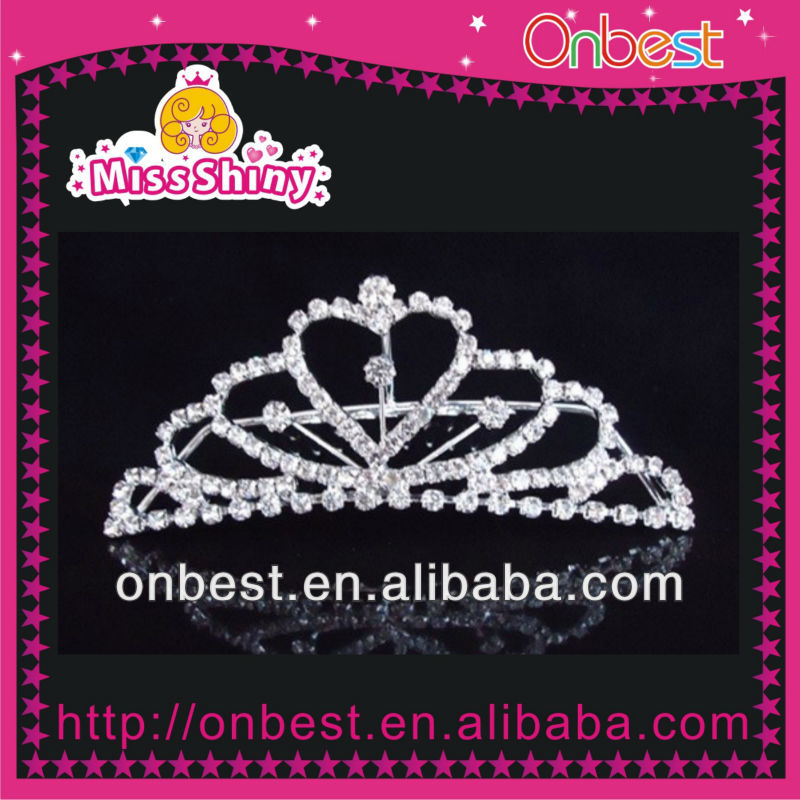 Fashion Colored Rhinestones Gun Black Plated Flower Wedding Tiara Crown