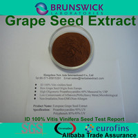 Water Soluble Grape Seed Extract ID 100% Vitis vinifera,OPCs 95% USP Grade,Low Pesticides,Aflatoxin,PAHs
