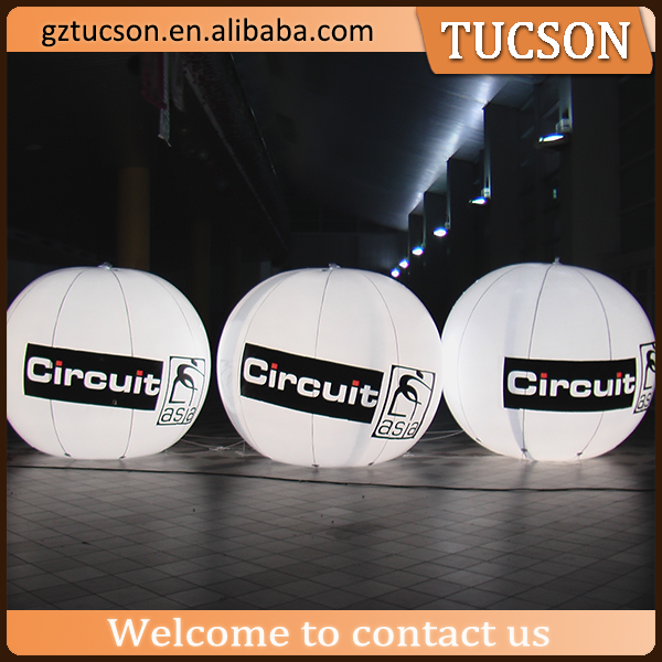 custom logo printed led balloons with helium, giant advertising balloon helium with led lighting