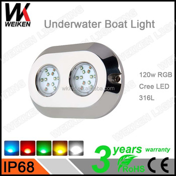Best Price Waterproof IP68 Led 120w Underwater Led Dock Light wireless boat lamps