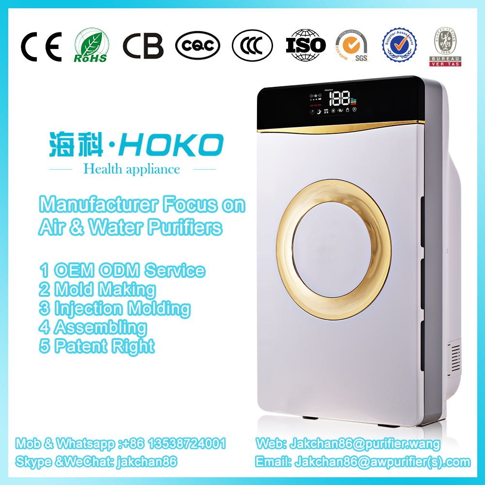 Popular customized home office water based High Grade Ionizer Home air cleaner home?hotel room air purifier
