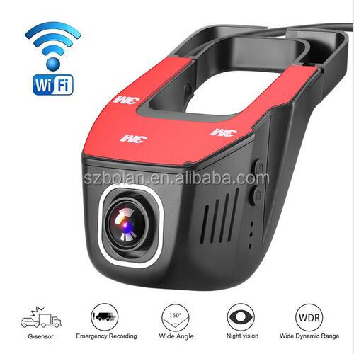 [BOLAN, Better & Reasonable Price] Hidden Full HD 1080P Wifi Car DVR Dash Camera with 170 Degree Wide Angle View