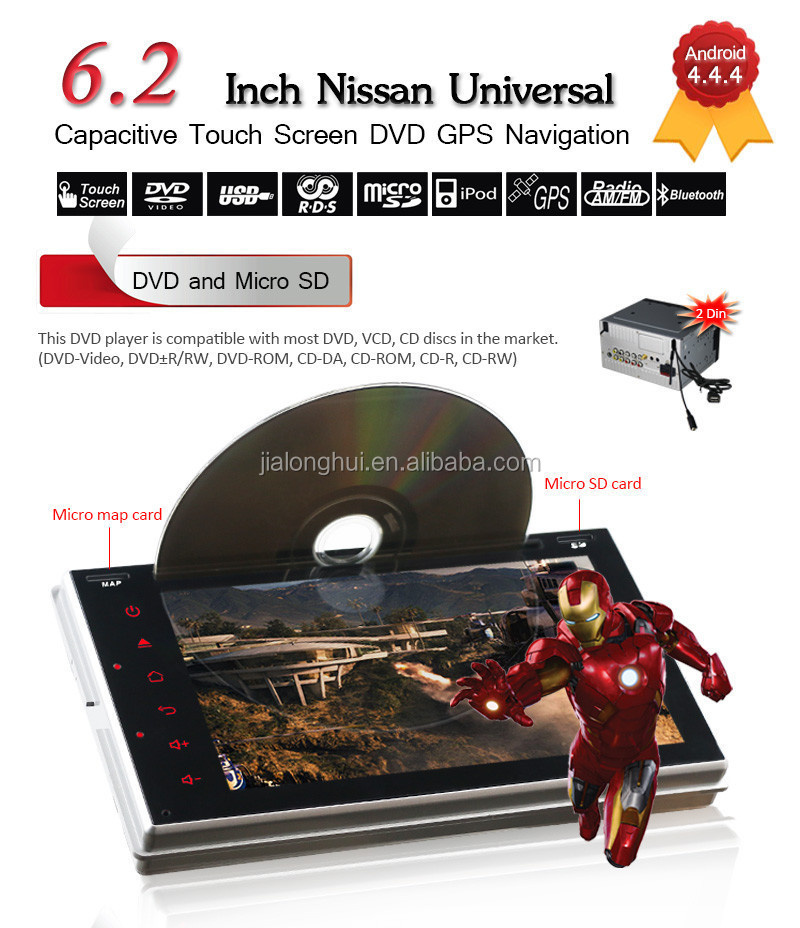 TWO DIN DOUBLE DIN CAR DVD FOR NISSANTIIDA,X-TRAIL,PALADIN,LIVINA,ANDROID4.4 RADIO,GPS,WIFI,BLUETOOTH,SWC,MP3,USB,SD,AUX