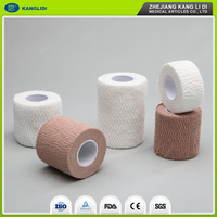 KLIDI China Top Quality Low Price Medical Cotton Self Adhesive Elastic Bandage For Sale