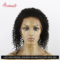 Clearance Perfect AAAAA no shedding remy human hair kinky curly full lace wigs