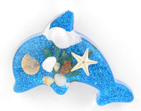 New best creative REAL marine sealife resin wholesale fridge magnet