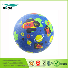 "China 8.5"" rubber playground balls from wuxi factory"