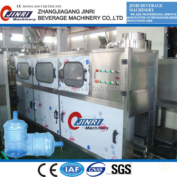 2016 exports to Chile drinking water 5 gallon semi-automatic de-capper/filling machine