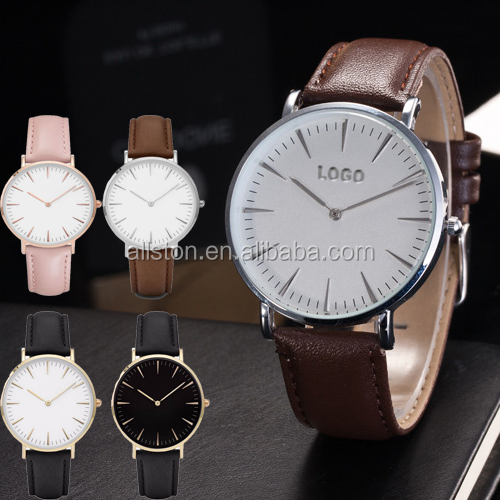 customized logo rose gold peach style watch for lady stainless steel back resistant watch