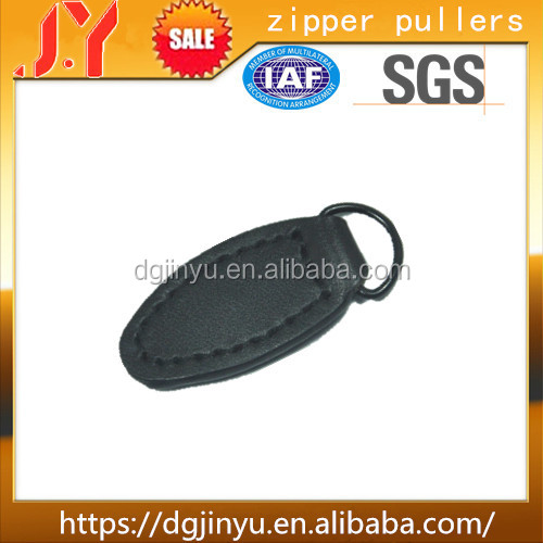 Dongguan Custom Garment Accessory Metal with PU Leather Zipper Puller
