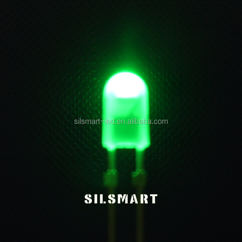 3mm lens welding green mini single led lights