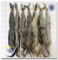 24inch unprocessed natural asian light grey human braiding hair