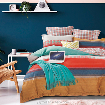 wholesale 2017 winter 100% brush cotton bedding set luxury king quilt cover set