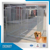 2014 Galvanized Large Animal Cage With Vertical Bar For Big Breed Dog