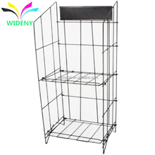 China supplier factory wholesale warehouse stable storage shelf heavy duty floor standing metal wire canoe rack