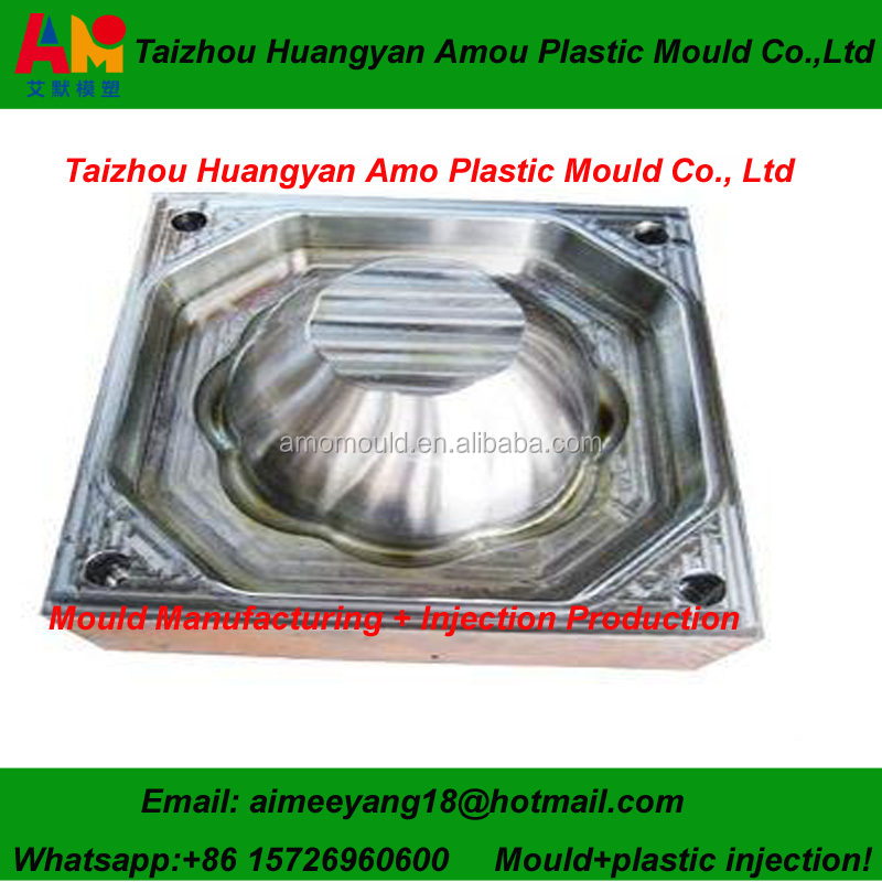 AM1705 decorative garden cheap plastic flower pots injection mould with good after-sale service