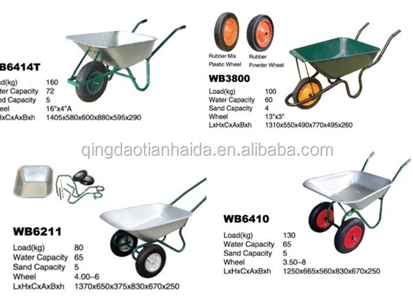 Pneumatic Tires Heavy Duty 200kg Industrial hand trolley