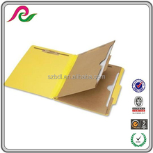 Yellow Pressboard 6-part Letter Size Classification File Folder with 2 Dividers and SafeSHIELD Fasteners