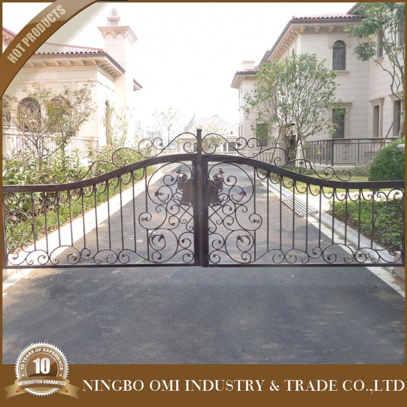 Quality Products Hot dipped galvanized wrought iron gate with grape/New design of school gate/c2016 years New type main house