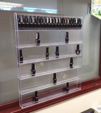 Wall mounted 120 compartment acrylic nail polish display stand