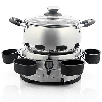 Stainless steel cheese fondue set electric fondue maker XJ-9K109