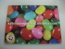 Color bubble Wave Tempered Glass Cutting Plate, 14-7/8 by 11-3/4 Inches